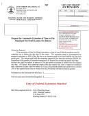Request For Automatic Extension Of Time To File Municipal Net Profit License Fee Return Form - City Net Profit Extension