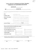 Wireless E-911 Subscriber Fee Report Form