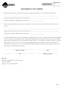 Montana Form Atl - Assumption Of Tax Liability