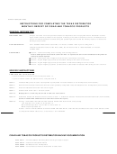 Form 69-101 - Instructions For Completing The Texas Distributor Monthly Report Of Cigar And Tobacco Products