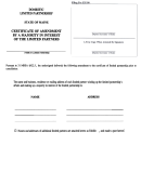 Form Mlpa-iil R - Certificate Of Amendment By A Majority In Interest Of The Limited Partners