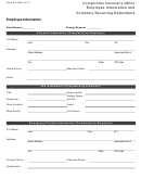 Form P-4 - Employee Information And Voluntary Recurring Deductions - Comptroller General's Office
