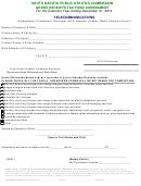 Gross Receipts Tax Fund Assessment Form - 2014