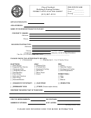 Permit Application Sheet - City Of Fairfield, Ohio Building & Zoning Division