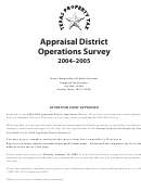 Appraisal District Operations Survey 2004-2005 Template - Property Tax Division - Texas