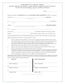 Assignment Of Cash Collateral Form - 2004
