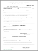 Request For Waiver Form - For Bond To Protect Surface - 2004