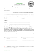 Request For Change Of Annual Rental Payor Form - Designating Third Party As Payor - 2004