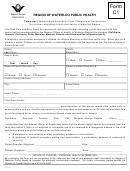 Region Of Waterloo Public Health Temporary Immunization Exemption Form