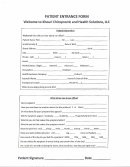 Patient Entrance Form Welcome To Khouri Chiropractic And Health Solutions, Llc