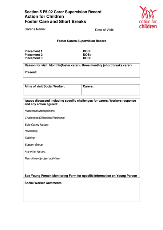 Top Action For Children Forms And Templates free to download in ...