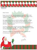 Divorced Parents Santa Letter Template