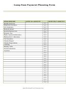 Lump Sum Payment Planning Form