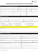 Subcontractor/supplier Pre -qualification Form