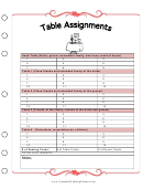 Wedding Planner - Table Assignments