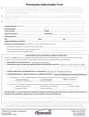 Prescription Authorization Form