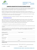 Inspection Request Form For Security Deposit Refunds