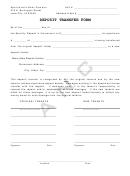 Deposit Transfer Form