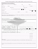 Health History Form (general)