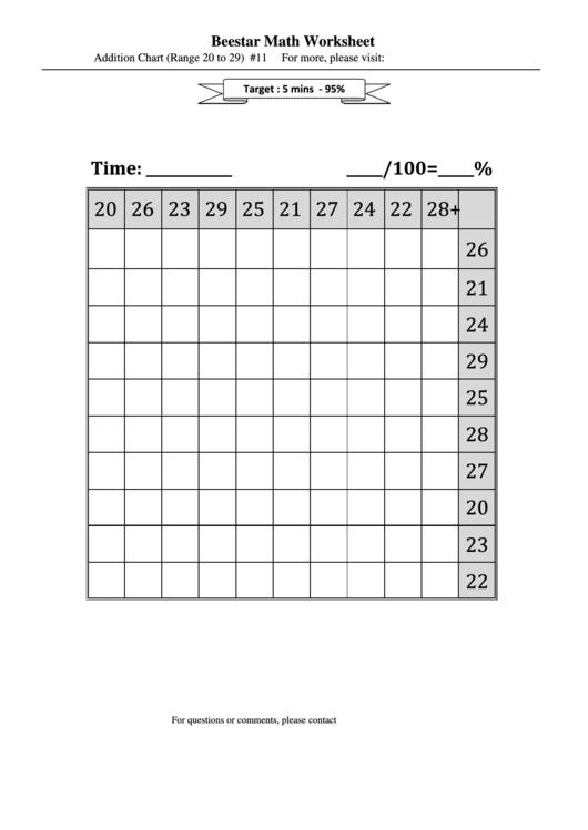 Beestar Math Worksheet printable pdf download