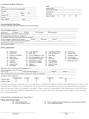 Personal Health History Template