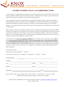 Knox Student Payment Policy And Commitment Form