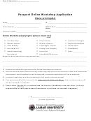 Passport Online Workshop Application