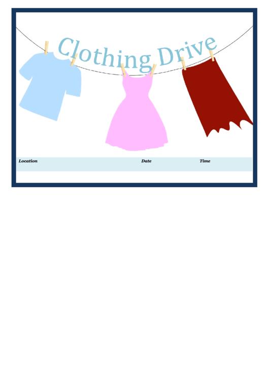 Clothing Drive Flyer Printable pdf