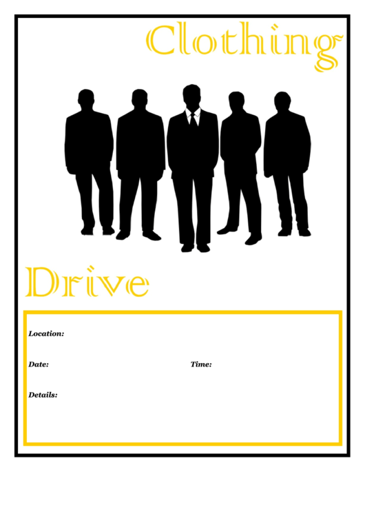 Clothing Drive Template