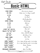 Basic Html Cheat Sheet