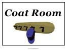 Coat Room Sign