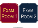 Exam Room Sign