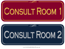 Consult Room Sign