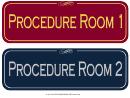 Procedure Room Sign