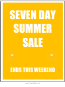 7 Day Summer Sale Sign