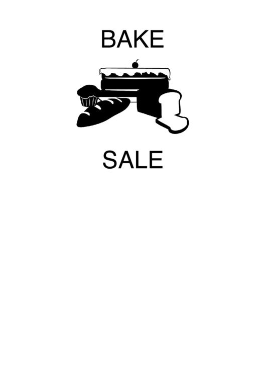 Fillable Bake Sale Sign Template Printable pdf