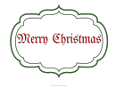 Merry Christmas Sign Template