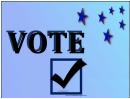 Vote Sign (blue)