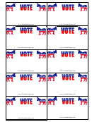 Democrat Sign Palm Cards Template