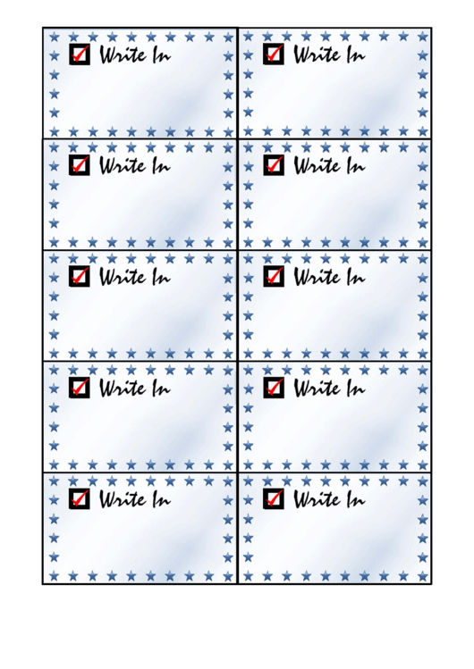 Write In Card Palm Cards Template Printable pdf