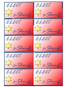 Sheriff Sign Palm Cards Template