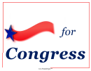 For Congress Sign