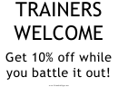 Trainers Welcome Sign