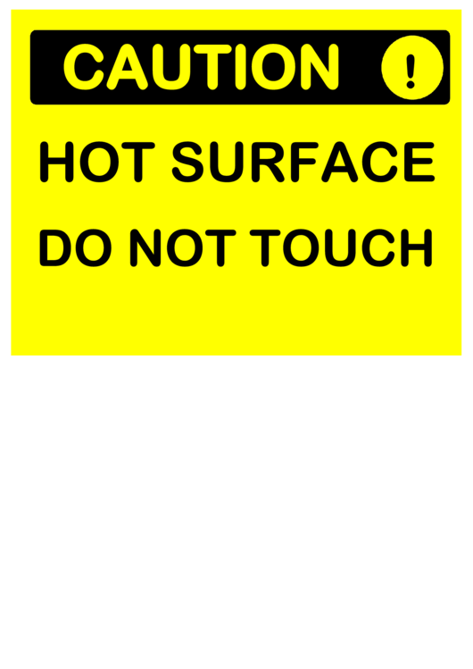Groovy Hot Surface Sign Printable Pdf Download Download Free Architecture Designs Scobabritishbridgeorg