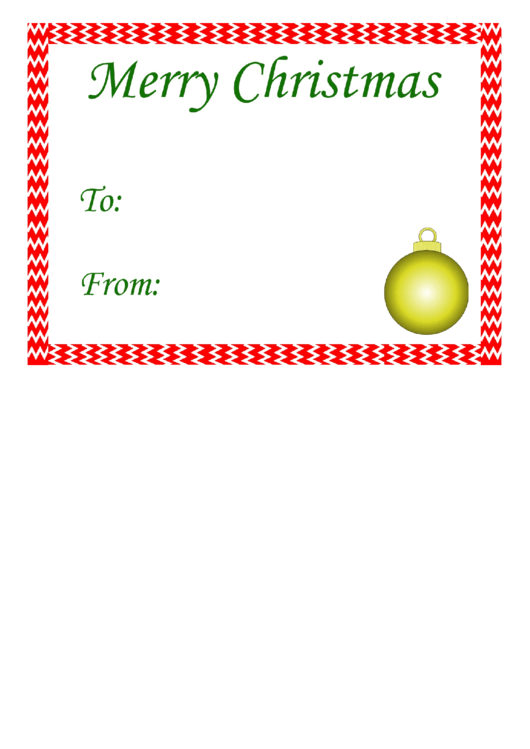 Merry Christmas Gift Tag Template