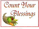 Count Your Blessings Flyer Template