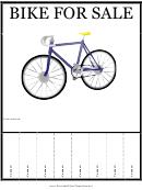Bike For Sale Sign