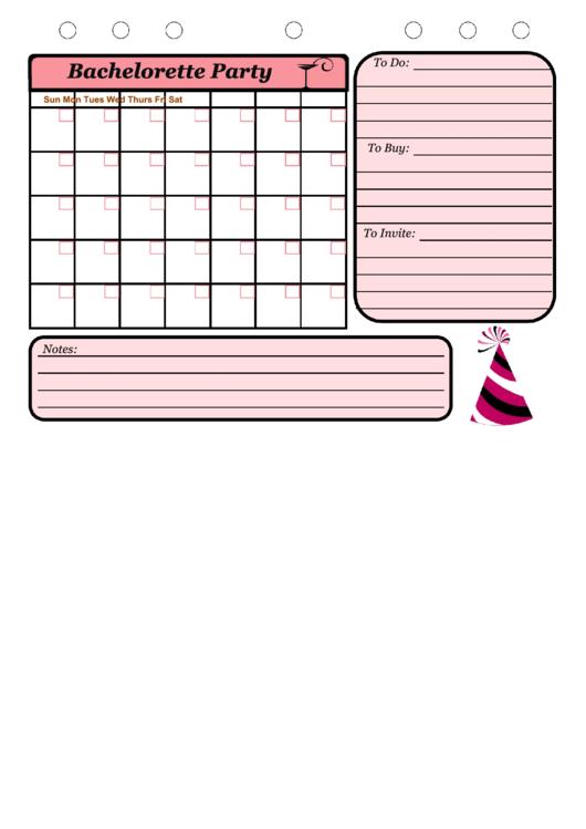 Bachelorette Party Printable pdf