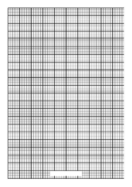 Knitting Grid Paper Template - A4 - Portrait Printable pdf
