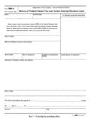 Form 668-j - Notice Of Federal Estate Tax Lien Under Internal Revenue Laws - Internal Revenue Service